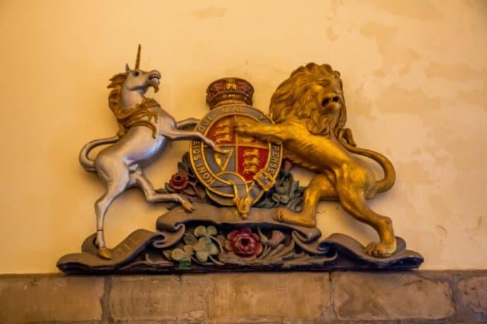 Family Crest at Doune Castle, Scotland