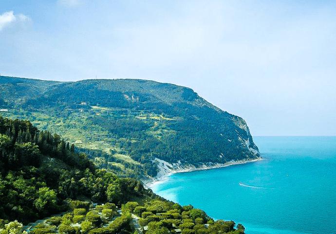 Mount Conero in Le Marche, Italy