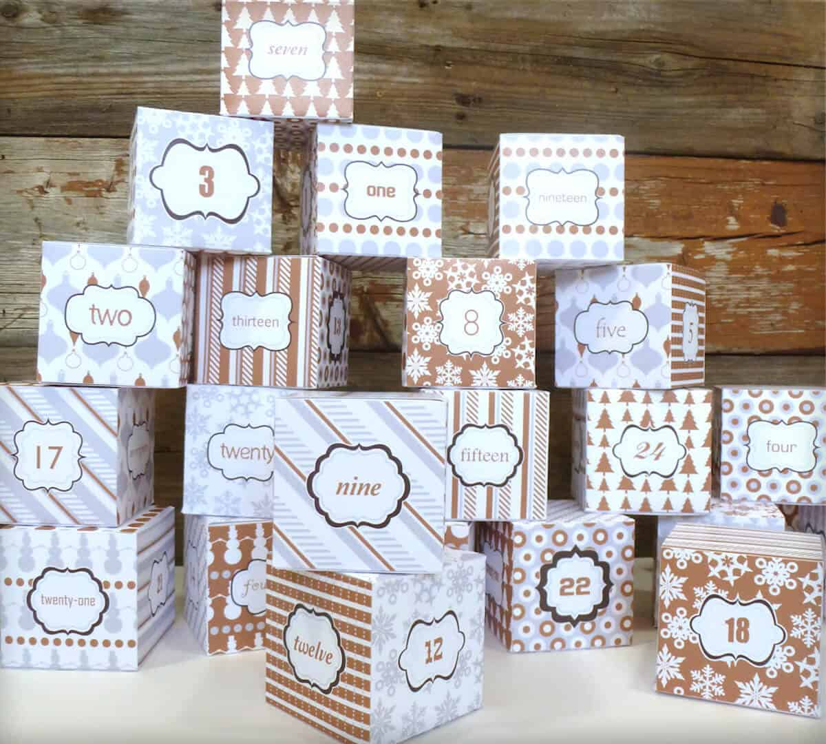 Recycled Holiday Crafts - DIY Advent Calendar Ideas