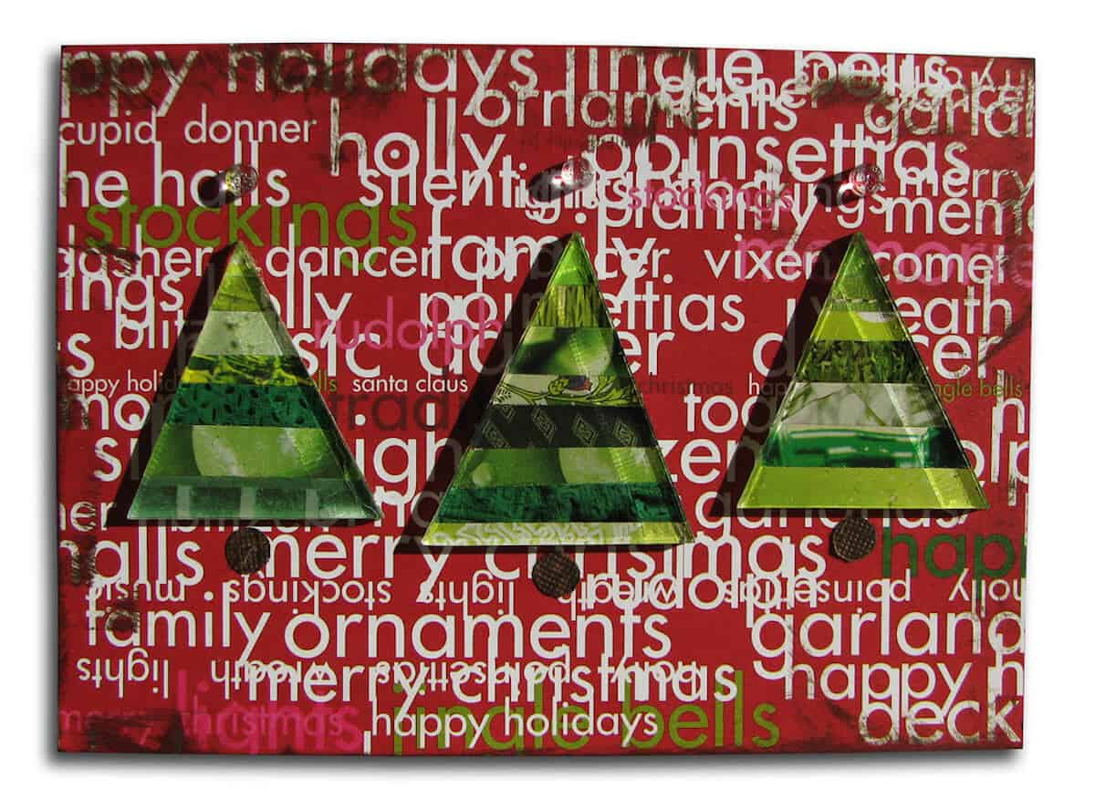 Recycled Christmas Collage