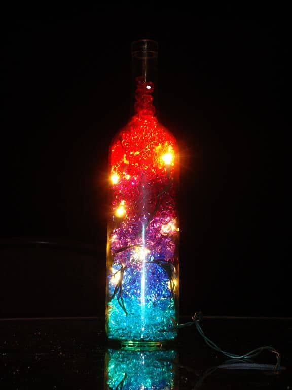 Wine Bottle Crafts for Christmas