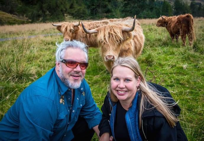 Highland Cattle on Scotland's Isle of Skye