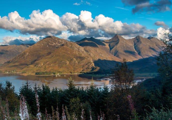 Five Sisters Mountains on the Isle of Skye, Scotland