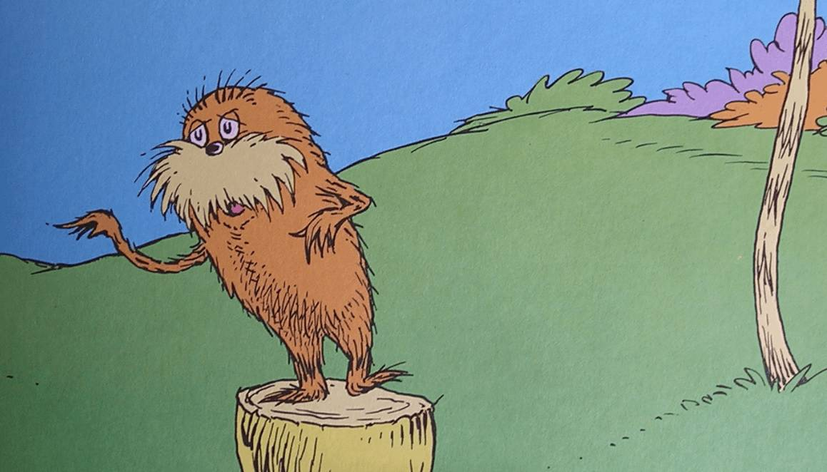 10 Lessons in Quotes from the Lorax (Dr Seuss's Conservation Classic) via @greenglobaltrvl #Lorax, #LoraxQuotes, #LoraxLessons, #LoraxLessonsDr.Suess, #LoraxLessonsDrSuess, #LoraxLessonsTrees, #LoraxLessonsEnvironment