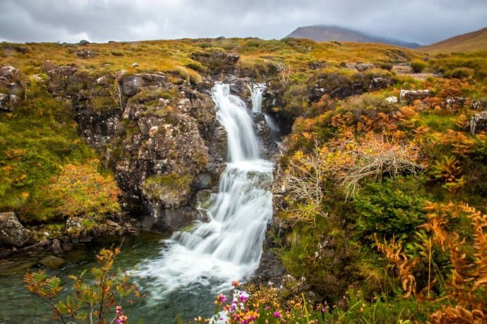 Secret Fairy Pool on the Isle of Skye, Scotland