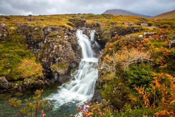Secret Fairy Pool on the Isle of Skye, Scotland