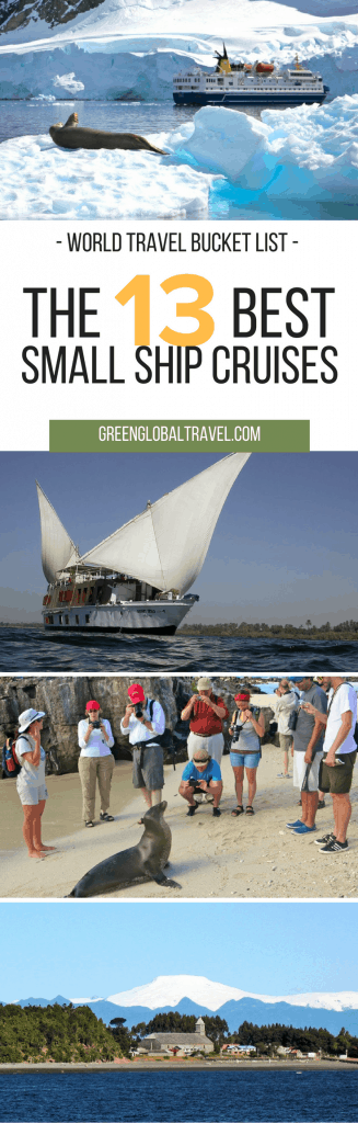 13 small ship cruises for your world travel bucket list! #worldtravel #bucketlist via @greenglobaltrvl