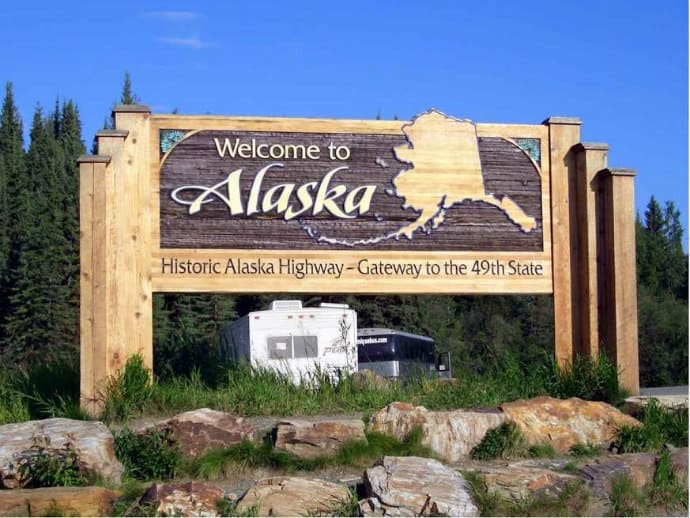 Alaska Highway -Crowded with Tourist Shops