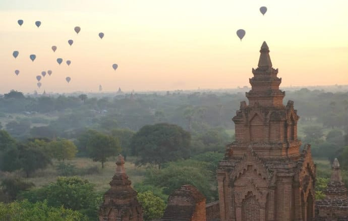 Bagan Myanmar -disrespectful tourists destroy pagodas