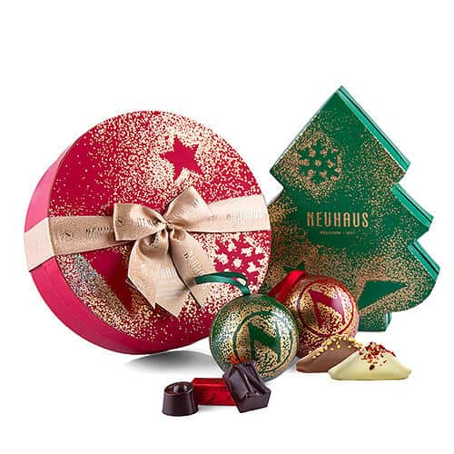 Best Gifts for Foodies - Neuhaus Festive Belgian Christmas Chocolate Trio