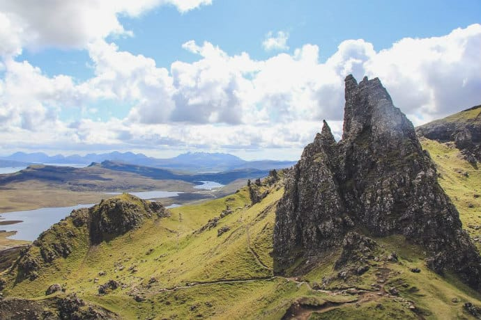 Quiraing on Isle of Skye Scotland -over-popular holiday destinations