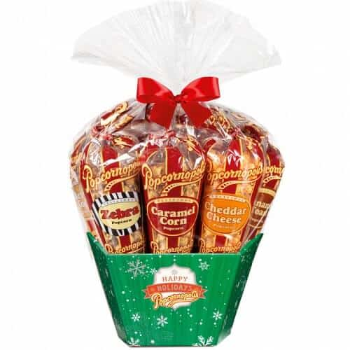 Sweet Gifts - Popcornopolis Cone Gift Basket
