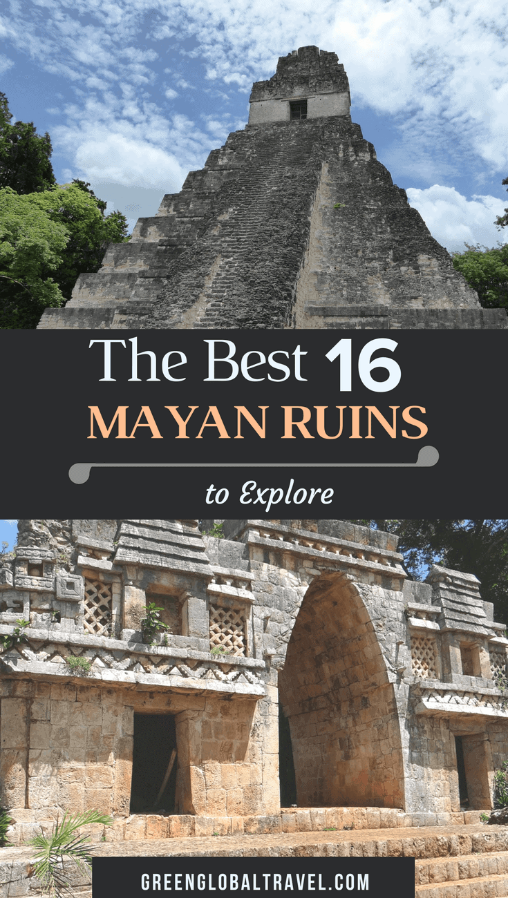 The ancient Mayan sites of Belize, Guatemala, Honduras, and Mexico span more than 2,500 years of Mesoamerican history. Check out our picks for the 16 Best Mayan Ruins to Explore, including Actun Tunichil Muknal, Bonampak, Caracal, Chichen Itza, Cobá, Copán, Palenque, Tikal, Tulum, Uxmal, Xunantunich, and more. via @greenglobaltrvl