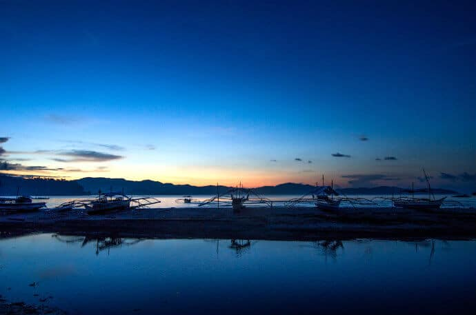 Peaceful Sunset at Port Barton San Vicente Palawan