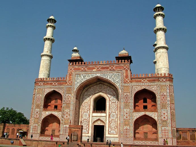 Main Gate to the Akbar's Tomb, Agra