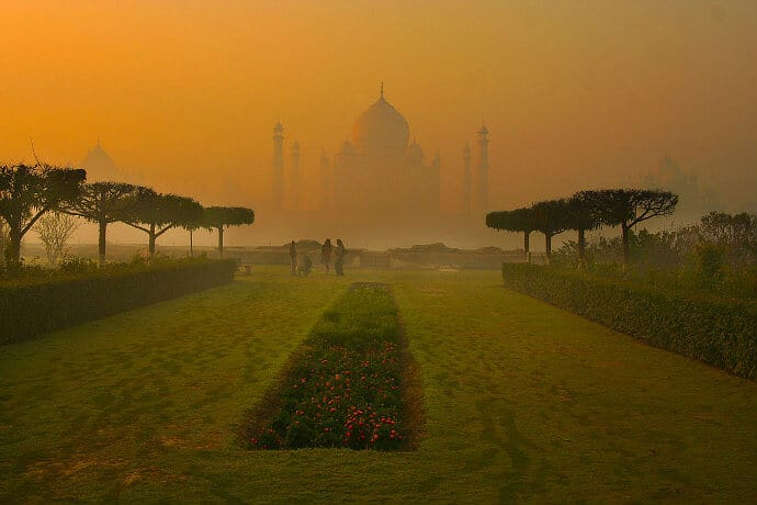 Mehtab Bagh Garden at the Taj Mahal
