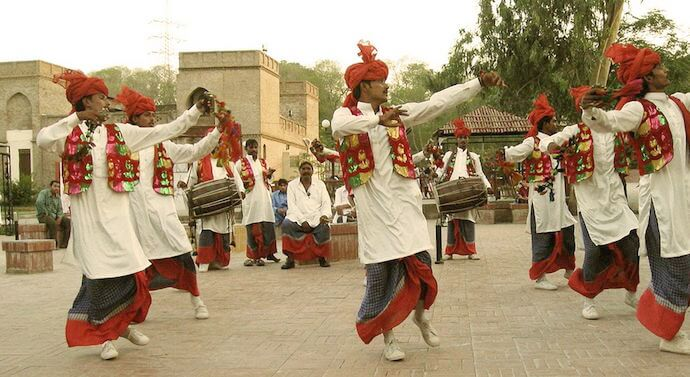 Bhangra Dancers in Lungi