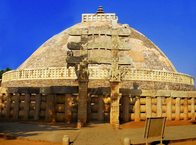 Central Indian Culture -Sanchi Stupa in Madhya Pradesh