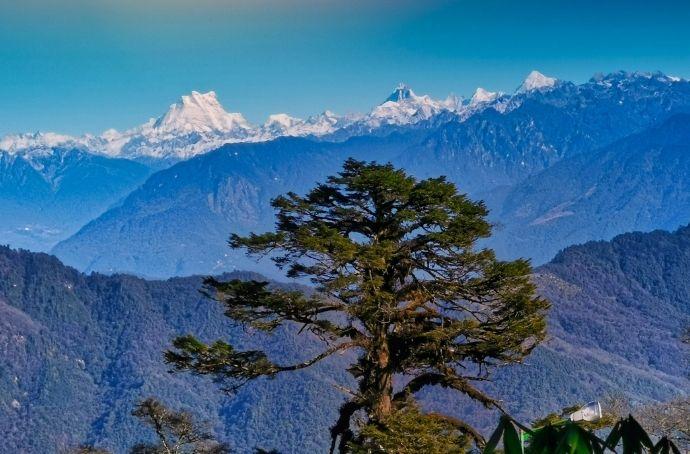 Gangkhar Puensum Mountain in Bhutan