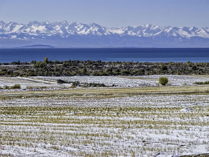 Second largest high-altitude lake in the world- Issyk-Kul in Asia