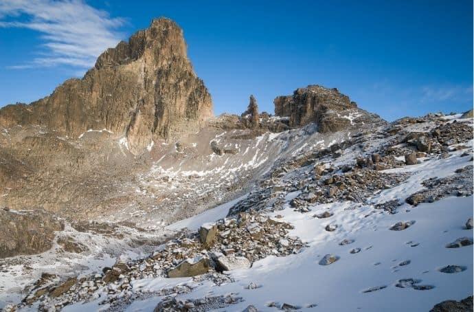 Mount Kenya in Africa