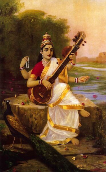Saraswati, the Hindu Goddess of Music