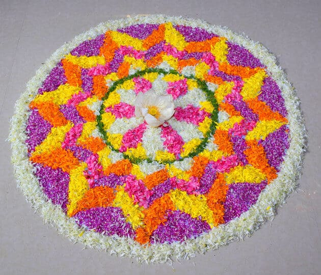 South Indian Cultural Festival: Onam Festival Kerala, flower carpet