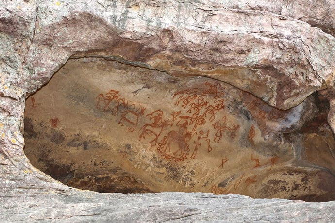UNESCO site in Central India - Bhimbetka Rock Shelters