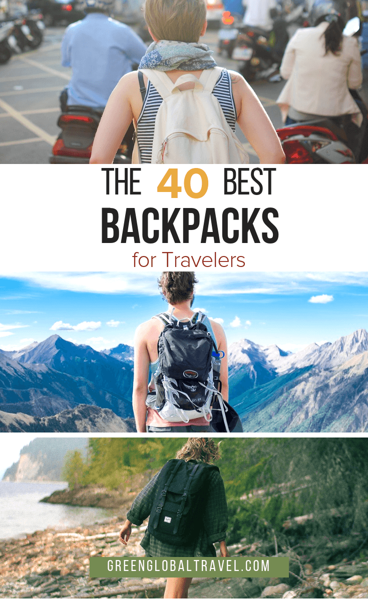 Check out these detailed reviews of 40 of the Best Backpacks for Travelers, broken down into categories and highlighting pros and cons.  #Backpacks #Backpacking #BackpacksForWomen #BackpackingGear #BackpacksForMen #BackpacksForSchool #BackpackingEssentials