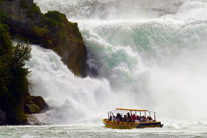 Biggest Waterfall in Europe -Rhine Falls