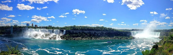 Biggest waterfall by volume in the USA- Niagara Falls