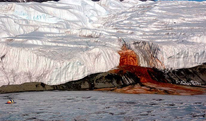 Biggest Waterfall in Antarctica - Blood Falls