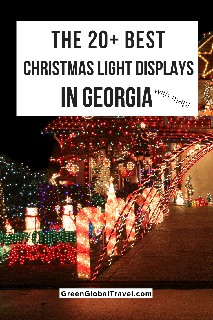 The 20+ Christmas Light Displays in Georgia with Map! southern lights | christmas light displays | southern christmas show | best christmas lights| lights of the south | best outdoor christmas lights | christmas lights in atlanta | christmas in the south | georgia christmas | georgia christmas lights | christmas lights in georgia | holiday light show | atlanta christmas