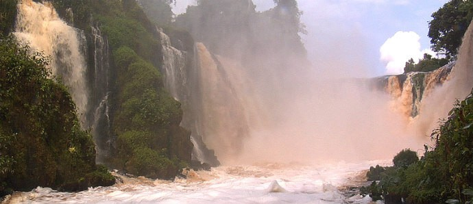 Most Powerful Waterfalls in Africa -Kongou Falls