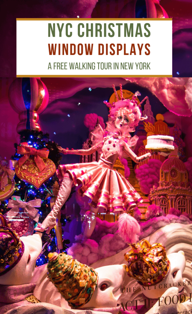 NYC Christmas Window Displays: A Free Walking Tour in New York with Map via @greenglobaltrvl #NYCChristmas, #NYCThingsToDo, #NYCChristmasWindow, #NYCChristmasWindowsMap, #NewYorkCityChristmas