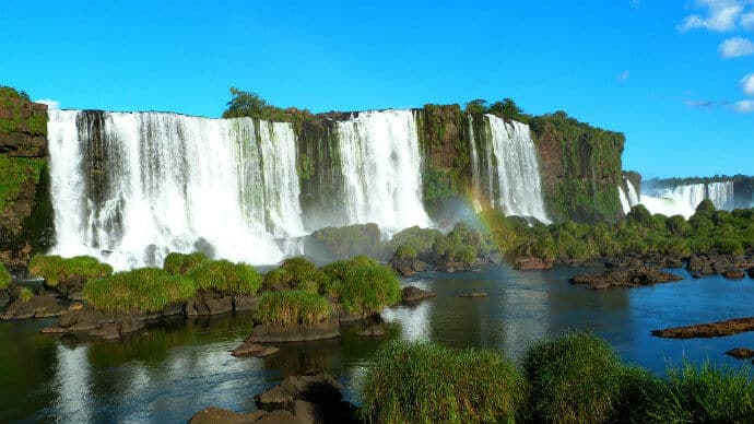 Sixth biggest waterfall in the world - Iguazu Falls, Brazil