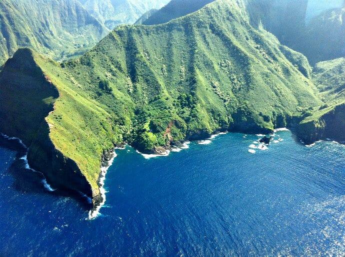 Tallest seaside cliffs in the world- Moloka'i, Hawaii