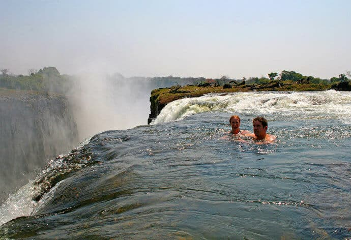 Waterfalls in Africa: Devils Pool, Victoria Falls