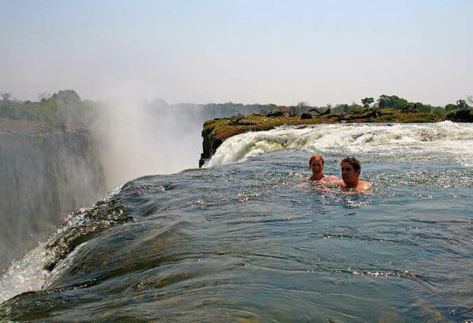 Waterfalls in Africa: Devils Pool, Victoria Falls