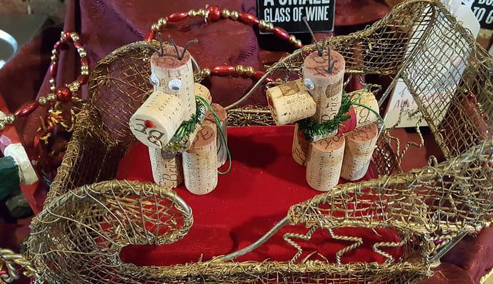 Wine cork crafts- reindeer made from recycled corks