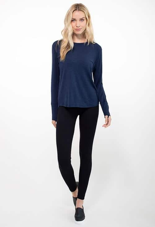 Best Gifts for Women -TASC Performance Hannah Merino long sleeve and NOLA Leggings