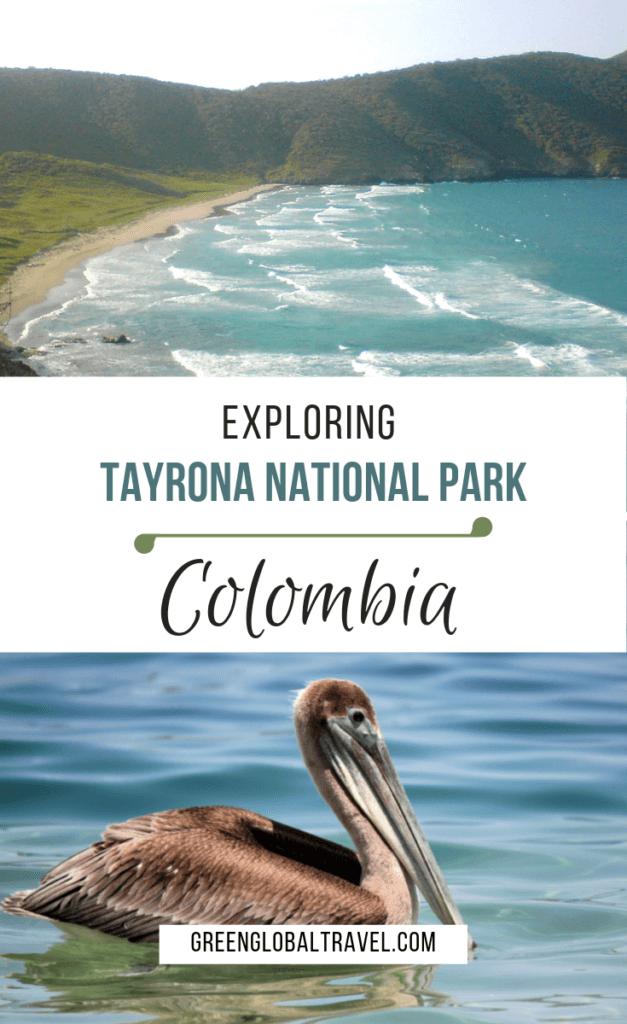 "Exploring Tayrona National Park, Colombia (a.k.a. Parque Nacional Tayrona)includes: How to Get to Tayrona National Park, Getting Into ""Parque Tayrona"", Hiking in Tayrona National Park, Things to Do in Tayrona, Tayrona National Park Hotel & Camping, Leaving Tayrona via @greenglobaltrvl #TayronaNationalPark #TaryronaNationalParkColumbia, #TayronaParkColumbia, #TayronaNationalParkSouthAmerica, #TayronaNationalParkHotel"