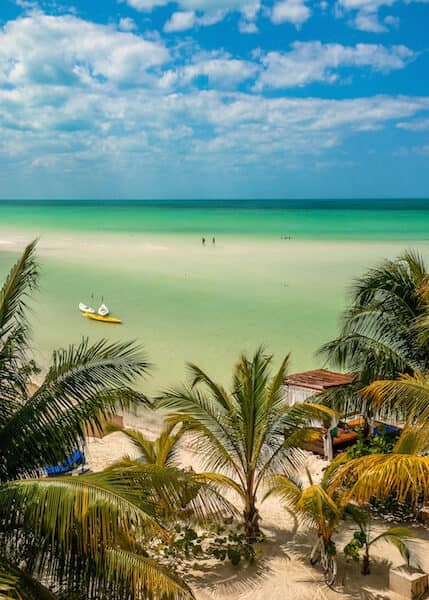 Bird's eye view of Playa Holbox