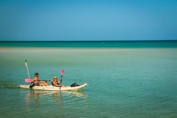 Kayaking in Isla Holbox Mexico