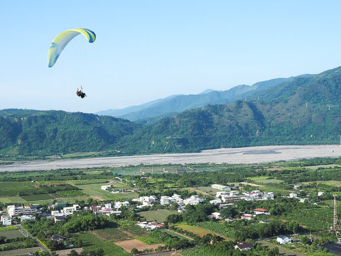 Paragliding in Luye Taiwan