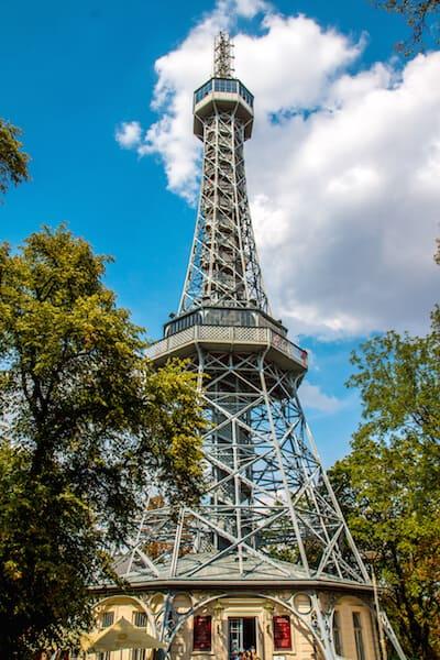 Petrín Tower in Prague, Czech Republic