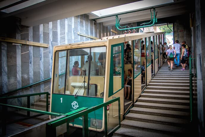 Petrin Funicular in Prague, Czech Republic