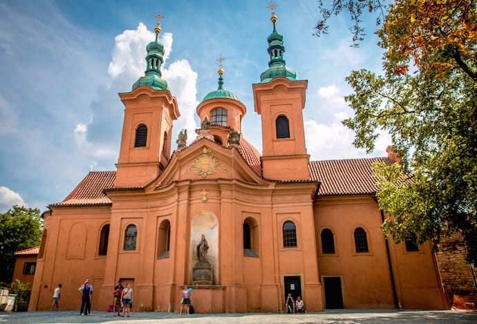 St. Lawrence Cathedral On Petrin Hill in Prague, Czech Republic