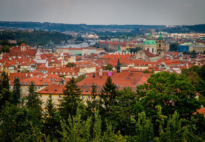 View from the Strahovska in Prague