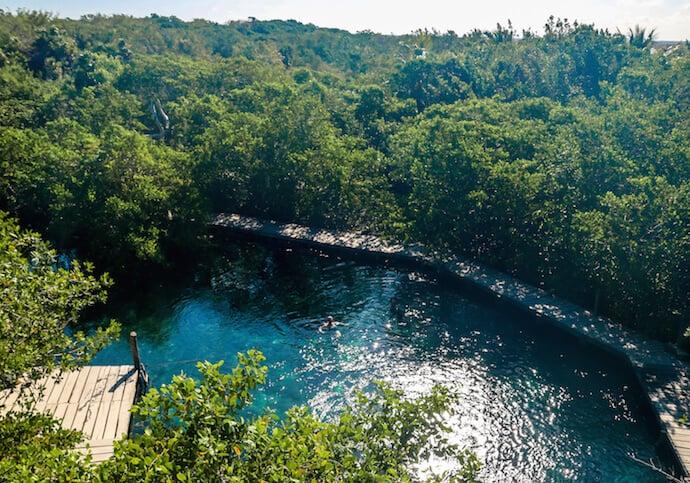Yalahao Cenote in Isla Holbox, Mexico